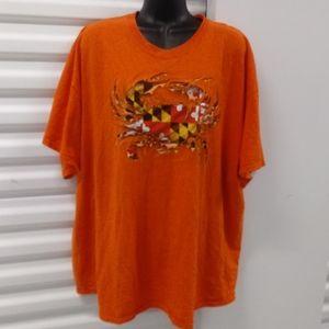 Maryland My Maryland Crab Flag Tee Shirt XXLarge